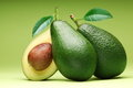Avocado  on a green. Royalty Free Stock Photo