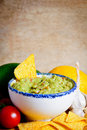Avocado guacamole dip Stock Photography