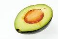 Avocado half of isolated on white background Stock Photos