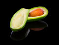 Avocado isolated on black background Royalty Free Stock Image