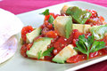 Avocado over Pico de Gallo Salsa Sauce Royalty Free Stock Images