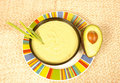 Avocado soup Stock Photos
