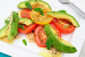 Avocado And Tomato Salad Royalty Free Stock Image
