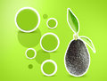 Avocados creative design for with leaves Stock Photography