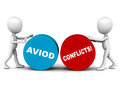 Avoid conflict Royalty Free Stock Images