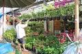 Avoir la main verte (Bangkok - Thaïlande) Royalty Free Stock Photo