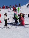 Avoriaz france mar french children form ski school groups annual winter school holiday mar avoriaz france Royalty Free Stock Photo