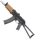 Avtomat kalashnikova automatic kalashnikov ak with a folding butt vector illustration Royalty Free Stock Photos
