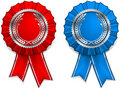 Award arms and ribbons Royalty Free Stock Photos
