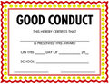 Award Certificate Good Conduct Royalty Free Stock Photo