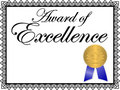 Award of Excellence/ai Royalty Free Stock Photo