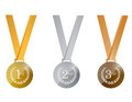 Award medals illustration design over a white background Royalty Free Stock Image