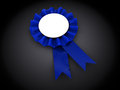 Award ribbon d illustration of over black background Stock Image