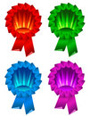 Award ribbon rosette Royalty Free Stock Photo