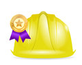 Award ribbon under construction sign illustration design over white Stock Image