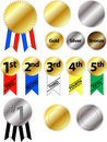Award Ribbons Royalty Free Stock Images