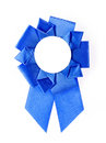 Award rosette blue on a white background Stock Image