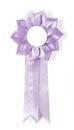 Award rosette purple on a white background Royalty Free Stock Photos