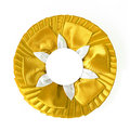 Award rosette yellow on a white background Stock Image