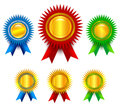 Award set Royalty Free Stock Photography