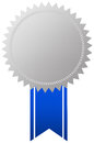 Award symbol with blue ribbon Royalty Free Stock Photos