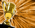Awarding cup over white backgound Royalty Free Stock Photography