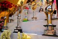 Awards for pandals temporary temples dedicated to kolkata india october these are given out the most beautioful in the city of Stock Photos