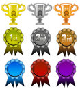 Awards and ribbons Stock Photography