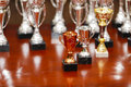 Awards some on a table Royalty Free Stock Photography
