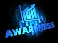 Awareness Concept on Dark Digital Background. Stock Photography