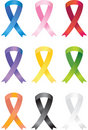 Awareness Ribbon Icons Stock Image