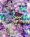 Awesome animal mix print - seamless background
