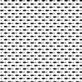 Beautiful black fish seamless pattern vector