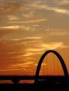 Awesome Deep orange sunset Royalty Free Stock Photo
