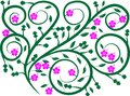 stock image of  Awesome floral digital design 22