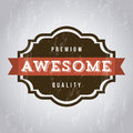 Awesome label over gray background vector illustration Stock Photography