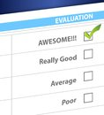 Awesome result on a survey illustration design graphic Stock Photo