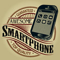 Awesome Smartphone / Guaranteed Top Quality Seal Stock Photo