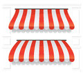 Awning set a detailed drawing on a white background covers Royalty Free Stock Photo