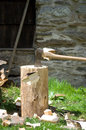 chopping wood Royalty Free Stock Photo