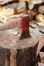 Axe for firewood Royalty Free Stock Images