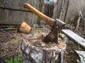 Axe Stuck In A Stump