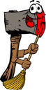 Axe sweeping with broom