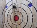 Axe Throwing Target, Hatchet Throwing Bullseye Royalty Free Stock Photo