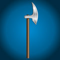 Axe vector illustration steel shiny Stock Photo