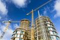Axel Towers Construction Site in Copenhagen, Denmark Royalty Free Stock Photo