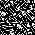 Axes Seamless Pattern in Black & White Stock Photography