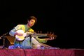 Ayaan plays Sarod in Bahrain, Nov 2012 Stock Photos