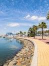 Ayamonte punta del moral spain huelva province andalucia promenade at the marina near the beach sometimes referred to as isla Royalty Free Stock Photo