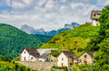 Aydius in the French Pyrenees. Royalty Free Stock Photo